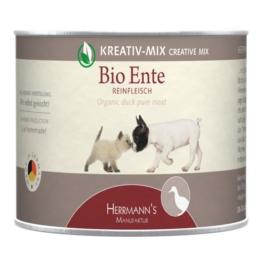 Herrmanns Bio Hunde- und Katzen-Ergänzungsfutter 100% Ente - 12x200g