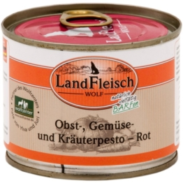 Landfleisch Dog Wolf Pesto Rot - 12x200g