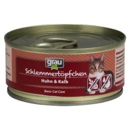 Grau Schlemmertöpfchen getreidefrei 6 x 100 g - Kaninchen, Rind & Ente