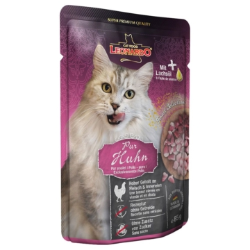Leonardo Finest Selection Pouch 6 x 85 g - Kitten: Huhn pur
