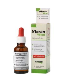 Anibio Nieren-Vital 30 ml (Tropfen) Ergänzungsfutter für Hunde und Katzen, 1er Pack (1 x 0.03 l) - 1