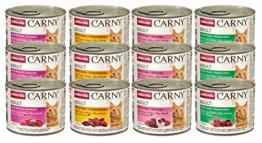 animonda Carny Adult Katzenfutter, Nassfutter für ausgewachsene Katzen, Mix 2, 12 x 200 g - 1