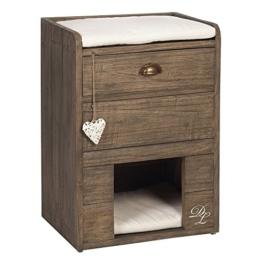 Designed by Lotte Karlie 408862 Katzenkommode aus Holz L: 50 cm B: 40 cm H: 70 cm, braun - 1