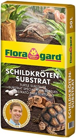 Floragard Schildkrötensubstrat 50l - natürliche Einstreu ohne Dünger - für Landschildkröten u. andere Reptilien - für Frühbeet, Überwinterung und für Terrarien - 1