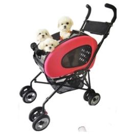 InnoPet® 5 in 1 Hundebuggy + Trolley + Autositztasche + Tasche -Hundewagen Pet Stroller - 1