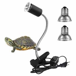 LEDGLE Schildkröte Wärmelampe, Wärmespotlampe für Aquarium Reptil mit Clip E27 Lampen 25W 50w 360°Drehbar für Reptilien, Eidechsen, Schildkrötenschlangen Haustier Habitat Heat Glühbirnen - 1