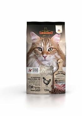 Leonardo Adult GF Maxi [7,5kg] Katzenfutter | Getreidefreies Trockenfutter für Katzen | Alleinfuttermittel für große Katzenrassen ab 1 Jahr - 1