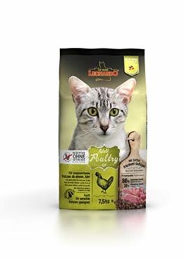 Leonardo Adult GF Poultry [7,5kg] Katzenfutter | Getreidefreies Trockenfutter für Katzen | Alleinfuttermittel für Katzenrassen ab 1 Jahr - 1