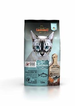 Leonardo Adult GF Salmon [7,5kg] Katzenfutter | Getreidefreies Trockenfutter für Katzen | Alleinfuttermittel für Katzenrassen ab 1 Jahr - 1