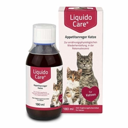 LiquidoCare Appetitanreger Katze 180 ml/Zur ernährungsphysiologischen Wiederherstellung, in der Rekonvaleszenz und bei hepatischer Lipidose der Katze - 1