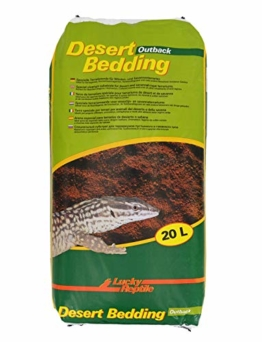 """Lucky Reptile DBO-20 Desert Bedding """"Outback rot"""" 20 Liter, Bodengrund für Wüstenterrarien, grabfähig - 1"""