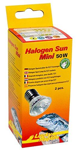 Lucky Reptile HSM-50 Halogen Sun Mini 50 W Doppelpackung, Wärmestrahler für E27 Fassung - 1