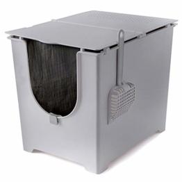 Modkat Flip Litter Box Kit Includes Scoop and Reusable Tarp Liner - Gray - 1