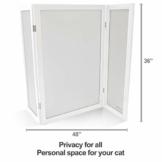 PetFusion ModestCat Katzentoilette, Sichtschutz, 90 cm hoch, 122 cm breit, Weiß Katzentoilette Möbel für die Gesundheit Ihrer Katze - 1