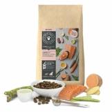 PETS DELI - NATURAL PET FOOD Katzenfutter trocken 400 g | Premium-Qualität | Lachs mit Süßkartoffel und Spargel | Trockenfutter für Katzen mit 60% Fischanteil, getreidefrei und ohne unnötige Zusätze - 1