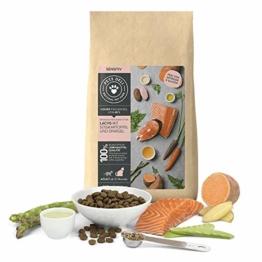 PETS DELI - NATURAL PET FOOD Katzenfutter trocken 400 g   Premium-Qualität   Lachs mit Süßkartoffel und Spargel   Trockenfutter für Katzen mit 60% Fischanteil, getreidefrei und ohne unnötige Zusätze - 1