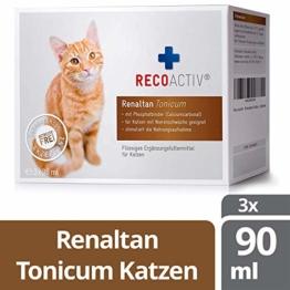 RECOACTIV® Renaltan Tonicum für Katzen mit Phosphatbinder, 3 x 90 ml, Nahrungsmittelergänzung für nierenkranke Katzen, Stärkungsmittel zur Rekonvaleszenz bei Niereninsuffizienz der Katze - 1
