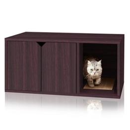 Way Basics 819767013648 Umweltfreundliche Moderne Katzenstreu Box Möbel, Espresso - 1