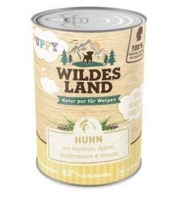 Wildes Land Hundfutter Nassfutter Puppy Huhn mit Karotte 400g (18 x 400g) - 1