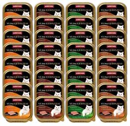animonda Vom Feinsten Adult Katzenfutter, Nassfutter für ausgewachsene Katzen, kastrierte Katze Geflügel-Kreation Mix, 32 x 100 g - 1