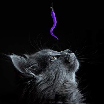 UEETEK 5 Stück Katze Wurm Teaser und Exerciser,Teaser Nachfüllungen Spielzeug Katze Winkel Ersatz für Kätzchen Katze Wand - 9