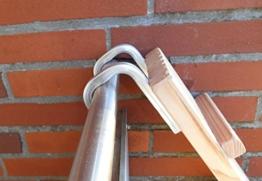 Jennys Tiershop 2 Meter! Katzenleiter/Katzentreppe mit Einem Verbinder für Balkon, Mit Haken! Douglasie (3) - 1