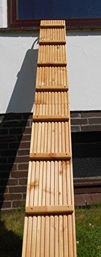 Jennys Tiershop 2 Meter! Katzenleiter/Katzentreppe mit Einem Verbindungsstück für Balkon, Mit Klemmhalterung. Extra 21 cm Breit! Douglasie (e) - 1