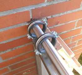 Jennys Tiershop 3 Meter! Katzenleiter/Katzentreppe mit 2 Verbindungsstücken für Balkon, Mit Gummischellen. extra 21 cm Breit! Douglasie (7e) - 1