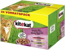 Kitekat Katzenfutter Nassfutter Markt Mix in Gelee, 48 Portionsbeutel (2 x 24 x 100g) - 1