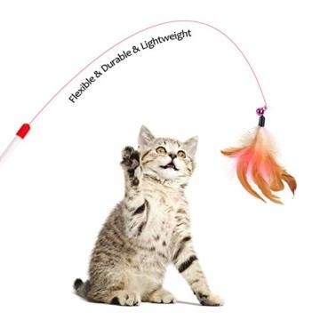 EKKONG 20 Stück Katzenspielzeug Set, Federspielzeug für Katzen, Variety katzenspielzeug Pack, Katze Toys mit Federspielzeug Bälle Maus für Katze Kitty - 6