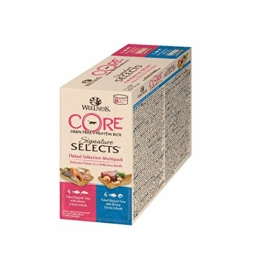 Wellness CORE Signature Selects / Katzenfutter Nass / Getreidefrei / Hoher Fleischanteil / Flaked Selection Mix, 8 x 79 g Dosen - 1