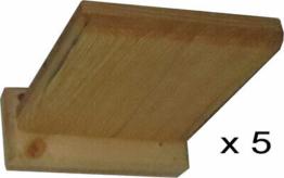 5 Wandbretter, Trittbrett 40 mm stark für Katzen aus Holz, Wandpark, erweiterbar