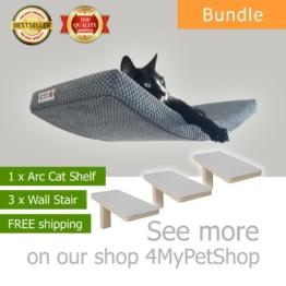 BOGEN 60 bundle 1+3 Katzenregal Katze Wandliege Katzenliege Katzenbett Cat Shelf