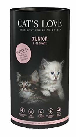 Cat´s Love Premium Trockenfutter Katze Junior Geflügel (Geflügel, 2 x 1kg) - 1