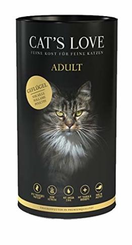 Cat´s Love Premiumfutter Trockenfutter Katze Adult Geflügel (Geflügel, 1 x 1kg) - 1