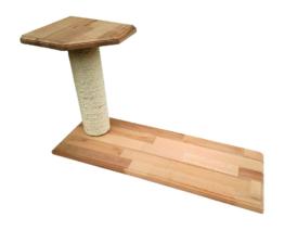 Kratzsäule mit Sitzplattformen Buche Sisal Katzenmöbel Wandbefestigung links