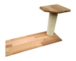 Kratzsäule mit Sitzplattformen Buche Sisal Katzenmöbel Wandbefestigung rechts
