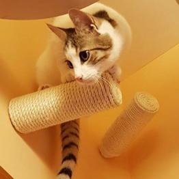 Capri Corner Sisal Stufe, Wand Kratzstamm für Katzen Catwalk Wandpark (4 Stück) - 1