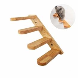 Kletterwand Katzen Holz Wandpark Handgefertigte Tiermöbel Spielmöbel, Haustiertreppe Schritt, Katzenkletter Leiter Wand Treppen Leite - 1