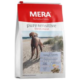12,5 kg | Mera | Fresh Meat Adult Hering & Kartoffel Pure Sensitive | Trockenfutter | Hund