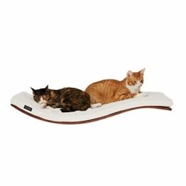 COSY AND DOZY Katze Wandliege Katzenliege | Katzenbett | Katzen | 90 cm x 41 cm | Walnuss Holz - 1