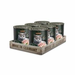 Leonardo Nassfutter [6x800g Ente] | Getreidefreies Nassfutter für Katzen | Feuchtfutter Alleinfutter aus der Dose - 1