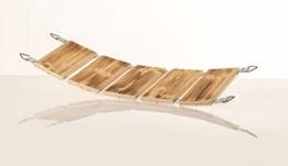 Medikratz Catwalk Katzenbrücke, Katzen Hängebrücke, Katzen Wandpark, Kletterwand aus hochwertigem Massivholz in verschiedenen Längen, 50cm - 200cm (Abgeflammt) (200cm) - 1