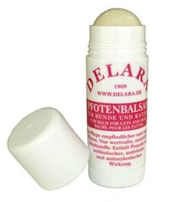DELARA Pfotenbalsam für Hunde und Katzen, hochwertige Pfotenschutz-Creme in DAB-Qualität als praktischer Stick zur wirksamen Pflege empfindlicher und rissiger Pfoten – Made in Germany - 1
