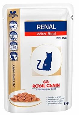 Royal Canin Vet Diet Renal Frischebeutel 12 x 85 g Beef Katze - 1