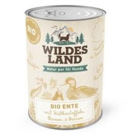Wildes Land Hundefutter Nassfutter Bio Ente 400g (6 x 400g) - 1