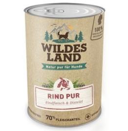 Wildes Land | Nassfutter für Hunde | Rind PUR | 6 x 800 g | mit Distelöl | Getreidefrei & Hypoallergen | Extra hoher Fleischanteil von 70% | Beste Akzeptanz und Verträglichkeit - 1