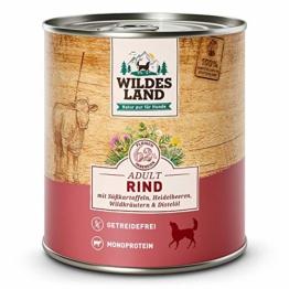 Wildes Lande Hundefutter Nassfutter Rind 800g (6 x 800g) - 1