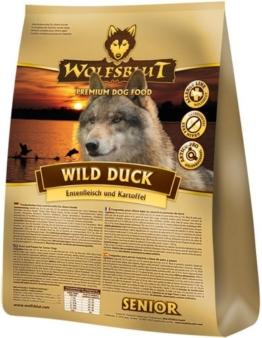 Wolfsblut   Wild Duck Senior   15 kg   Ente   Trockenfutter   Hundefutter   Getreidefrei - 1