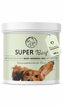 Annimally Barf Zusatz Pulver für Hunde 500g I Barf Vitamine & Mineralien Mix für die optimale Versorgung mit Nährstoffen - Hund Mineral Futterzusatz mit Gemüse, Obst und Vitaminen - 1